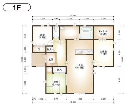 1F平面図<br />